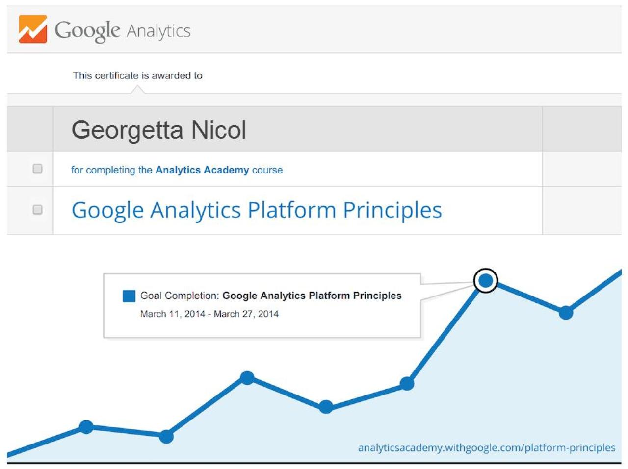 Google Analytics Platform Principles Certificate